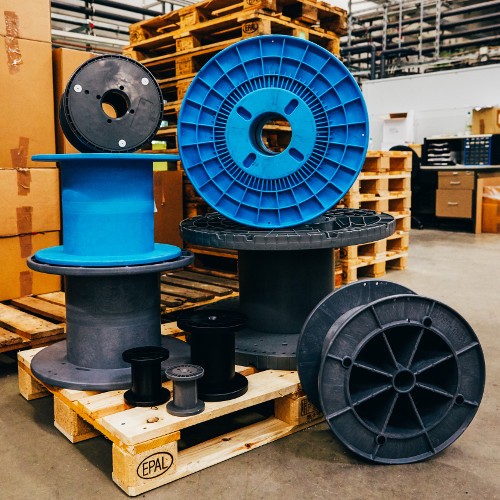 Large spools for cables, wires and glass fiber - periplast